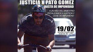 A un año del accidente de Pato Gómez, realizarán una bicicleteada para pedir justicia