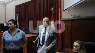 El magistrado. Tras la audiencia debió retirarse de tribunales con custodia policial.