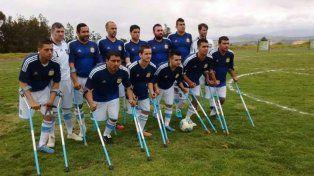 argentina goleo a uruguay en el inicio del sudamericano de futbol de amputados