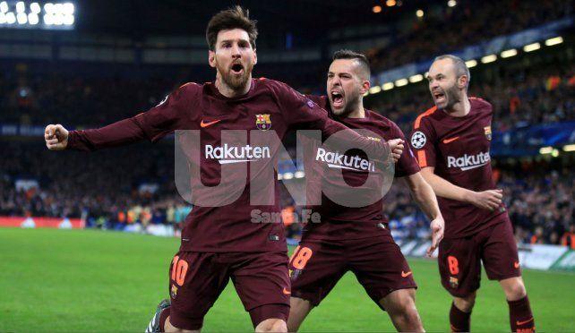 Messi rompió el maleficio ante Chelsea y marcó el empate para Barcelona