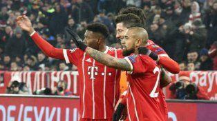 Bayern Munich metió un pie y medio en los cuartos de final