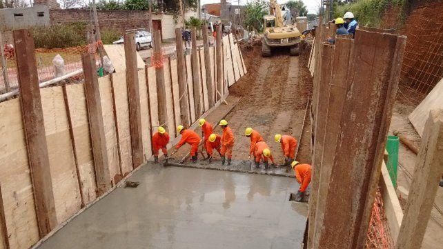 Ya se ejecutó el 60% de la obra de entubado del colector principal El Sable en Santa Fe