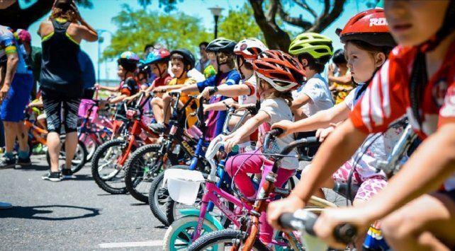 Los más chicos se preparan para el Giro al Parque
