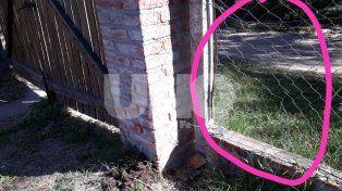 Foto archivo (Febrero 2018). Los delincuentes rompieron el tejido metalico e ingresaron a la vivienda