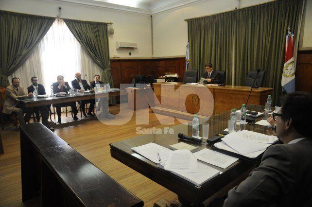 Por la tarde. La audiencia comenzó a partir de las 14.30 en tribunales.