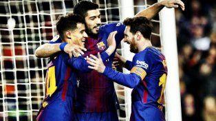 Con dos de Messi, Barcelona goleó 6 a 1 a Girona