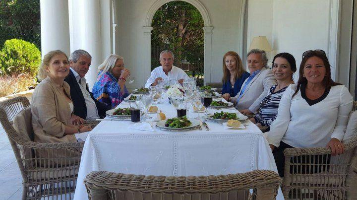 Lilita Carrió visitó a Mario Barletta en Uruguay