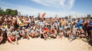 Más de 100 nadadores participaron del 2º Cruce de la Laguna Setúbal