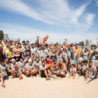 mas de 100 nadadores participaron del 2º cruce de la laguna setubal