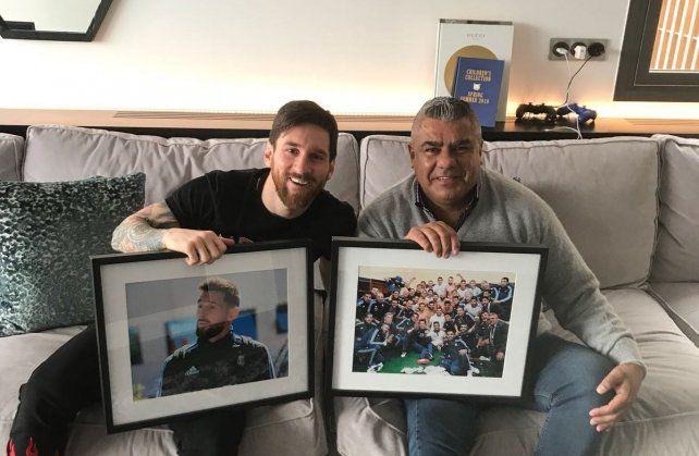 Lionel Messi se juntó con Claudio Tapia