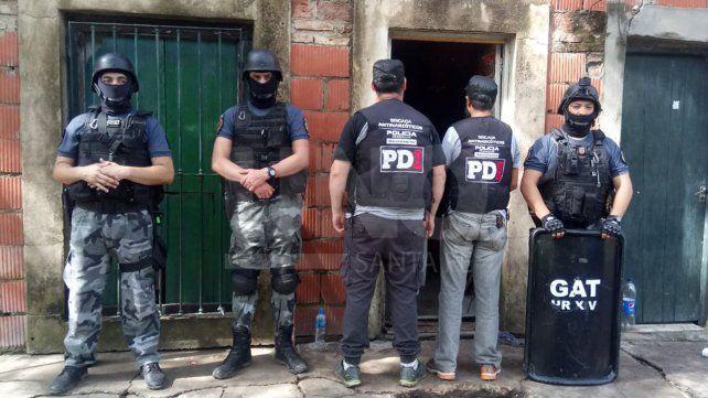 Siete narcos detenidos con secuestro de drogas en allanamientos en el norte provincial