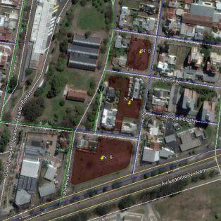 La ubicación de los terrenos, en cercanías de la Terminal.