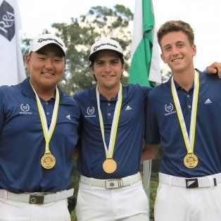 el santafesino lucas cena, campeon sudamericano de golf