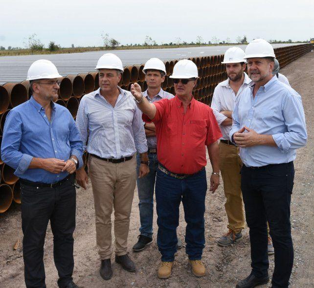 Perotti recorrió las obras para el gasoducto para Esperanza, Sunchales y Rafaela