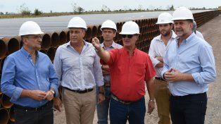 Perotti recorrió las obras para el gasoducto para Esperanza