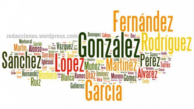 Cuáles son los apellidos más comunes en la Argentina