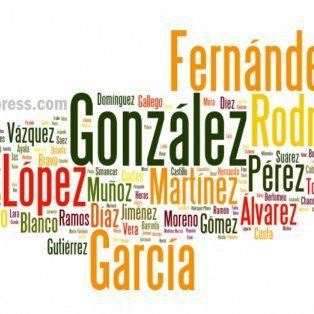 cuales son los apellidos mas comunes en la argentina