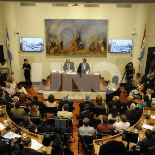 Corral dejó inaugurado un nuevo período de sesiones. Fotografía: José Busiemi