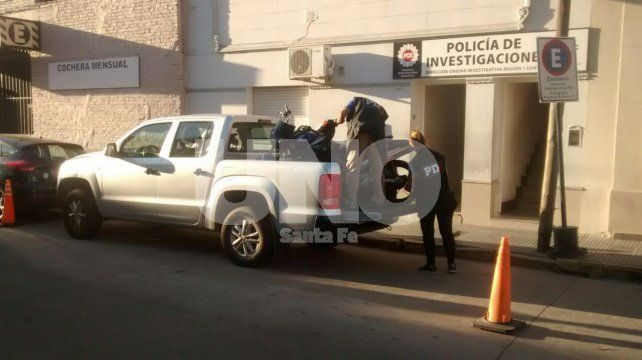 Secuestro. La moto robada que fue recuperada por agentes de la Policía de Investigaciones.