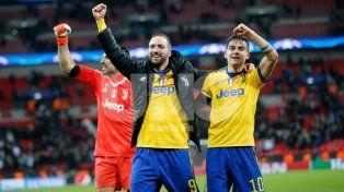 Juventus se plantó en Inglaterra y batió a Totteham gracias a Dybala e Higuaín