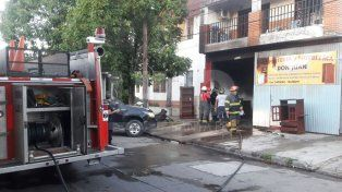 Incendio en un local en el norte de la ciudad