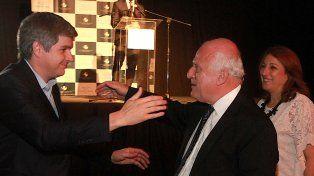 Lifschitz y Marcos Peña, mano a mano en Timbúes