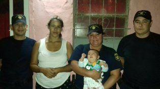 San Justo: dos policías salvaron la vida de un bebé de un mes