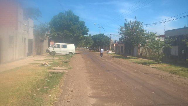 Así quedó calle San Juan.