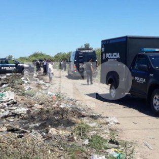 El lugar. A un costado del basural fue encontrado el cuerpo de la víctima.