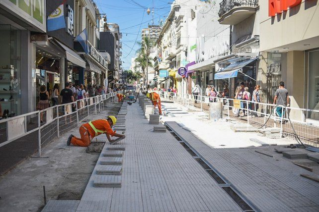 Avanza la obra de remodelación de la peatonal San Martín