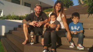Messi mostró la primera foto de su tercer hijo