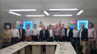 Luego de la firma del convenio entre gobierno y empresas TICs de Santa Fe (Noviembre 2016).