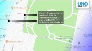 Instalarán alarmas comunitarias en el barrio Parque Juan de Garay