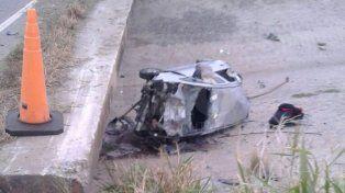 Milagro en San Cristóbal: chocó a un toro, cayó de un puente a un arroyo seco y resultó ileso