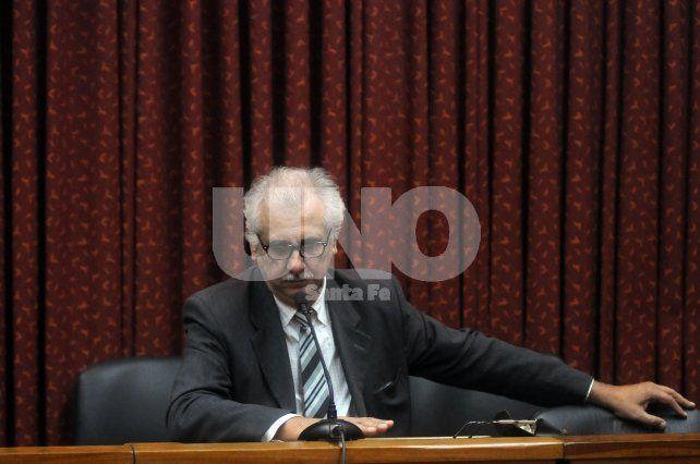 Horario Paulazzo. Junto con José Mohamad defienden a los cinco detenidos por el doble homicidio.