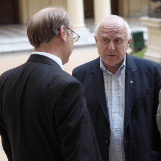 Análisis. Lifschitz, junto a Saglione y Saccone luego de la reunión en Casa Rosada.