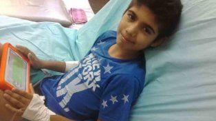 Piden ayuda urgente para un niño de 11 años con leucemia