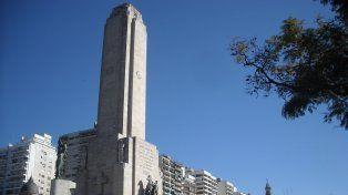 En el Monumento a la Bandera