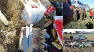 Alcohol, cuchillos y hasta un hacha: colectivos demorados rumbo al clásico en Mendoza