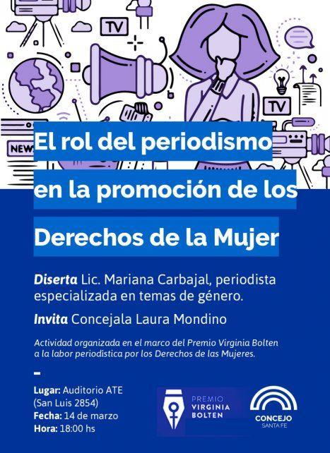 Charla El rol del periodismo en la promoción de los Derechos de las Mujeres en el Auditorio ATE