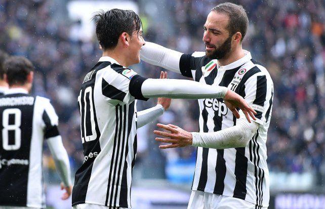 Higuaín metió un gol y dio una asistencia en el triunfo del líder Juventus