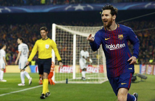 Otra noche histórica de Leo Messi en la Champions League
