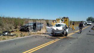 Violento choque frontal con un saldo de tres heridos en Santa Rosa de Calchines