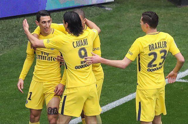 Francia: Di María anotó un tanto en la victoria del líder PSG