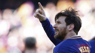 El Barsa dio otro paso hacia el título con un gol de Messi