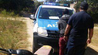 El agresor fue detenido por la policía. (Foto: gentileza diario uno de Santa Fe)