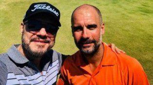 Tinelli se dio el gran gusto de jugar al golf con Pep Guardiola