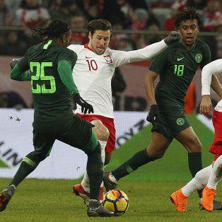 nigeria, rival de argentina en el mundial, supero a polonia