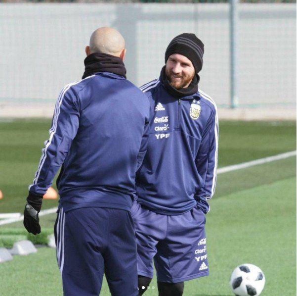 Leo Messi se sumó a los trabajos en Madrid pero sigue en duda