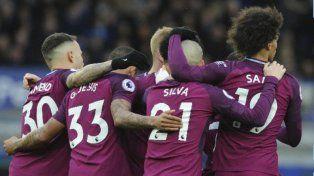 El City superó a Everton y estiró su racha triunfal en la Premier League